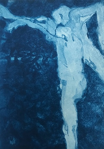 Sarah Cliff 'Infinity Pool' photopolymer etching