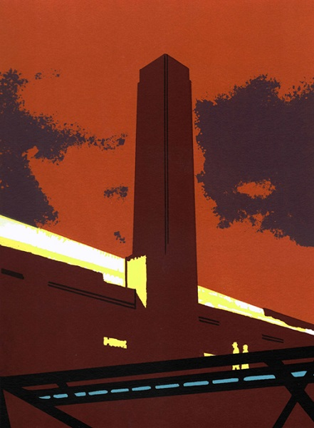 Nicola Styan 'Towards Tate Modern' screenprint