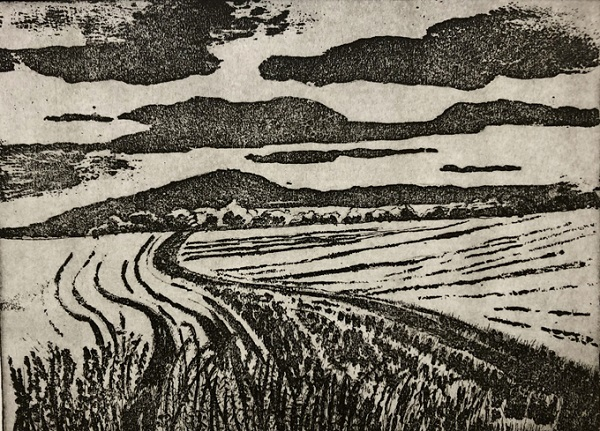Linda Nevill 'Winding Way' etching