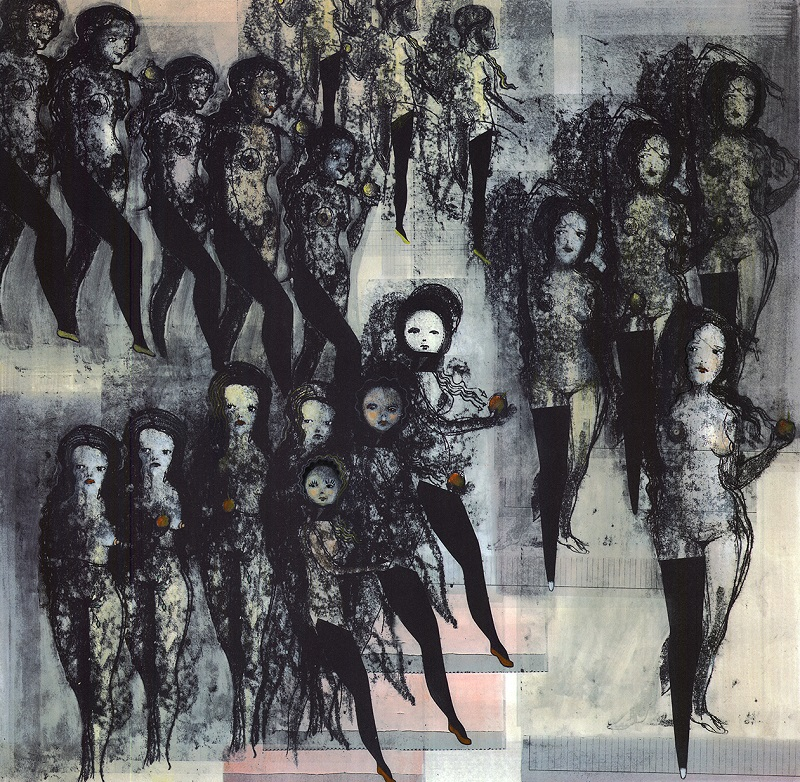 Girls, Girls, Girls lithograph by Cathie Pilkington