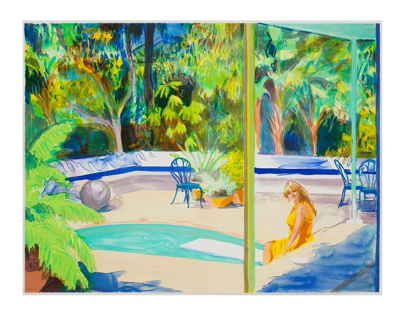 'Bathed' lithograph edition of 35