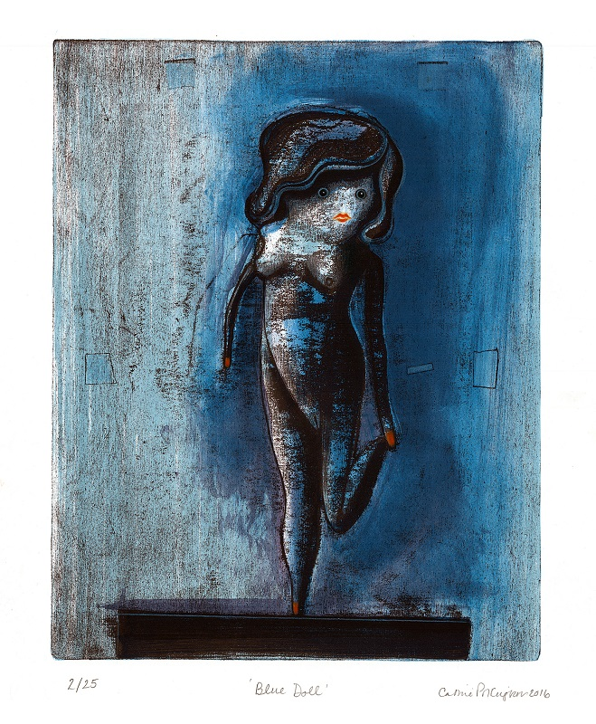 Blue Doll lithograph & hand colouring 7/25 46x38cm £450