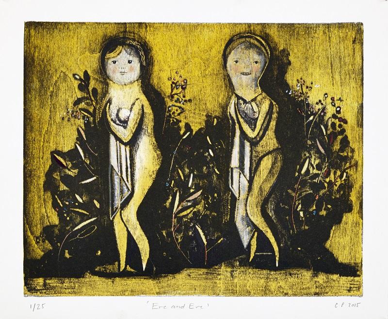 Eve & Eve Mokulito/lithograph & hand colouring A/P Ed of 7 £550