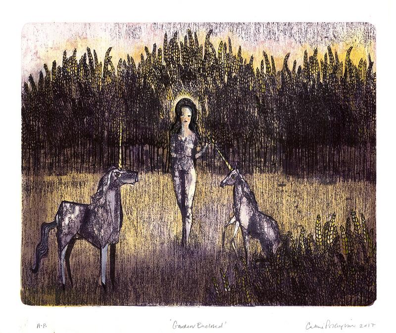 Garden Enclosed lithograph & hand colouring 40/40 54x46cm £550