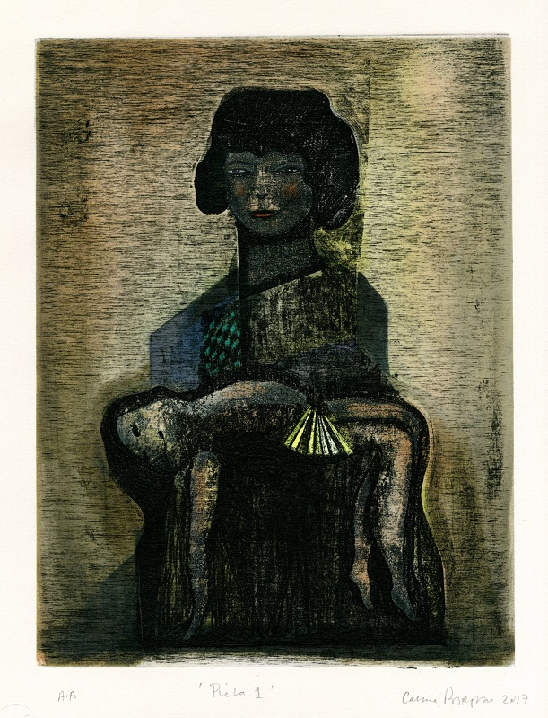 Pieta 1 2017 Etching, chine colle & hand colouring A/P £800