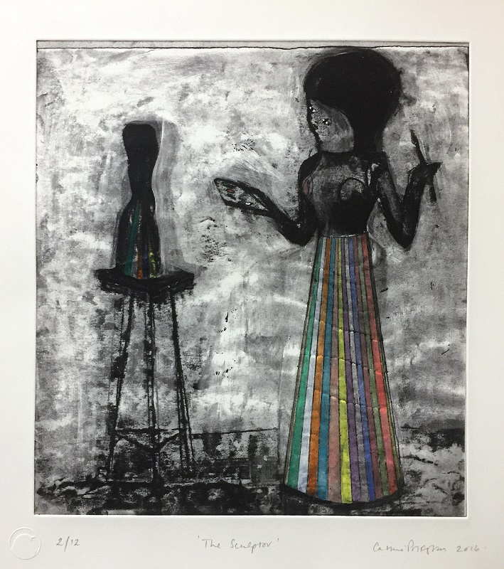 The Sculptor 2017 Etching & hand colouring A/P Ed of 12 38x38cm £500