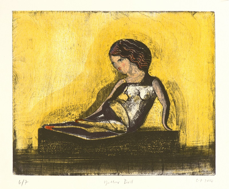 Yellow Doll 2015 Mokulito/lithograph & hand colouring A/P Ed of 7 30x38cm £550