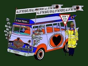 The Super Bus #1 digital print on Dibond 1400x900mm edition 1/15 £1600