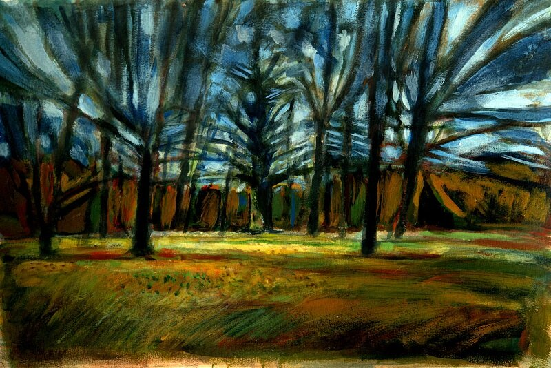 Park Wood II Watercolour £540 framed