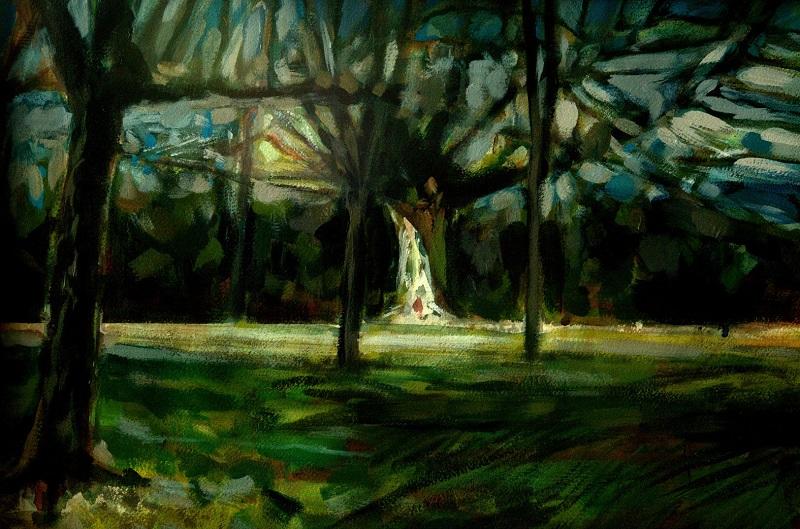 Park Wood V Watercolour £540 framed