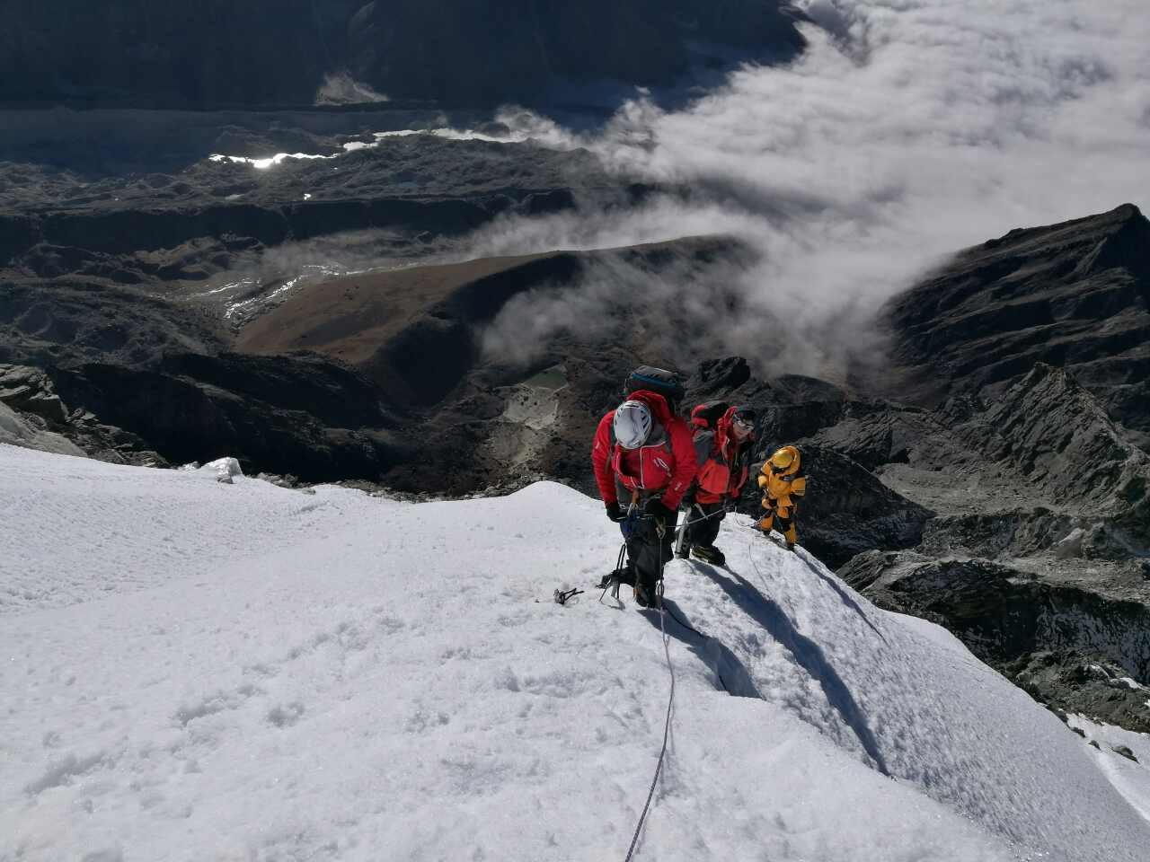 On the ridge of the Lobuche