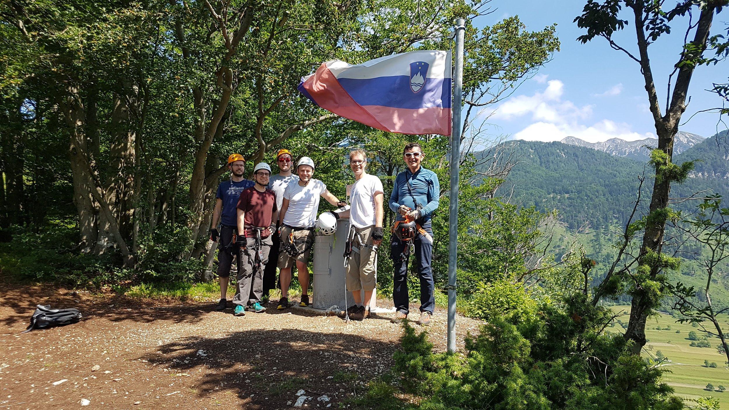 On the top of the via ferrata Mojstrana