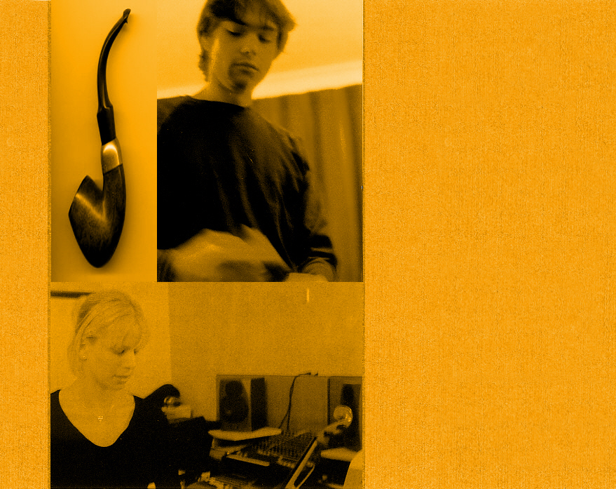 Steve and Claire at Dodo Studio, Fawley, 2003