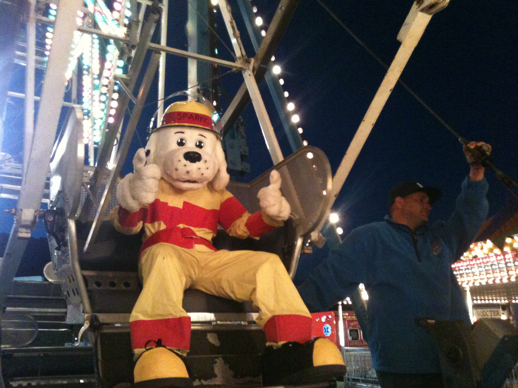 Sparky the Fire Prevention Dog goes to the Carnival