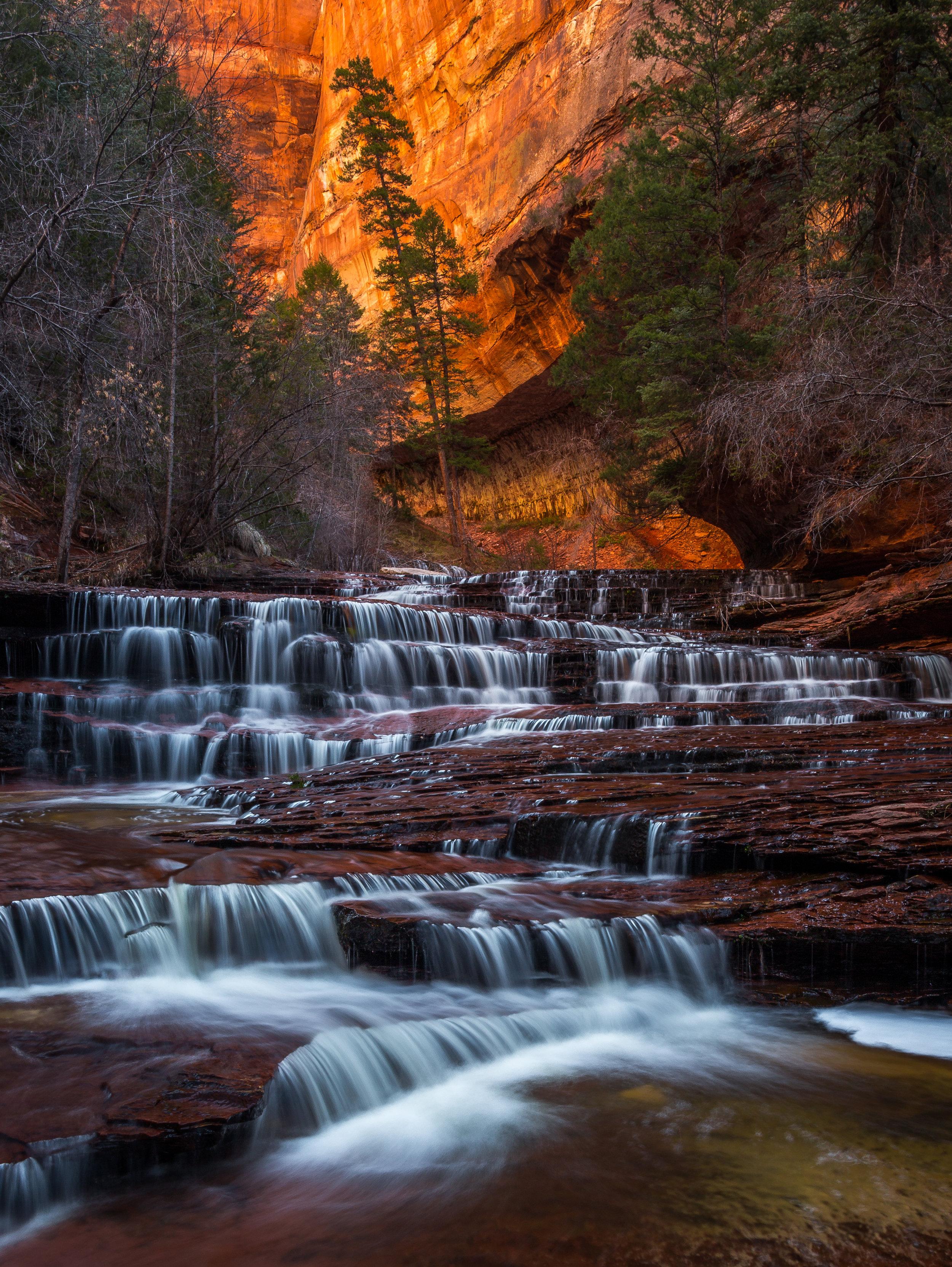 Angel Falls, Zion National Park, Utah