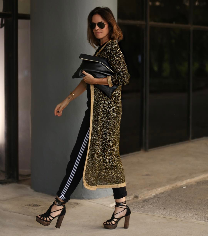 Look com tricot longo