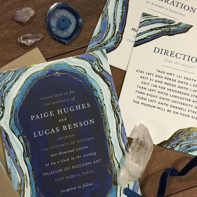 Minted has these incredible rock inspired invitations.