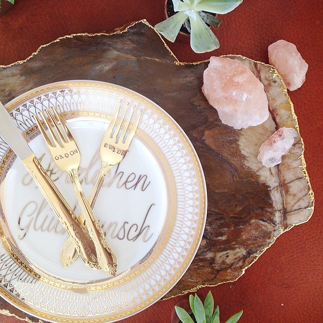 Christine_SimplyBloom took this incredible geological table setting photo.