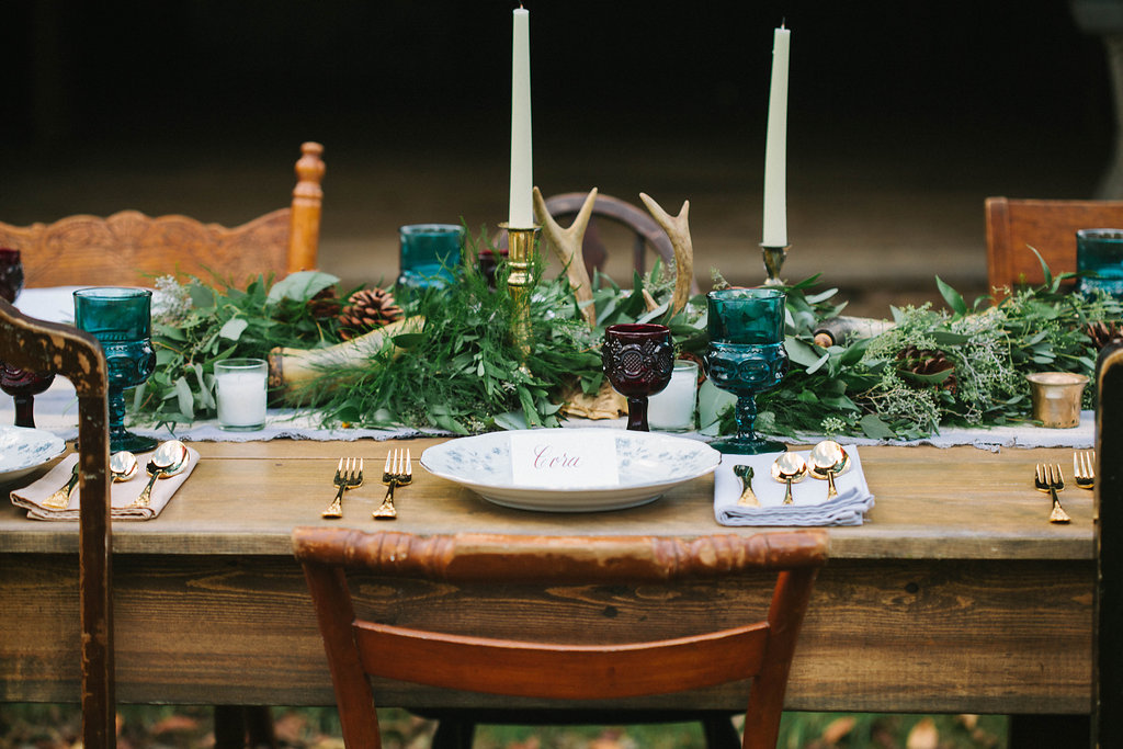 Tablescape at a recent styled shoot by Bethel Ann Photography.