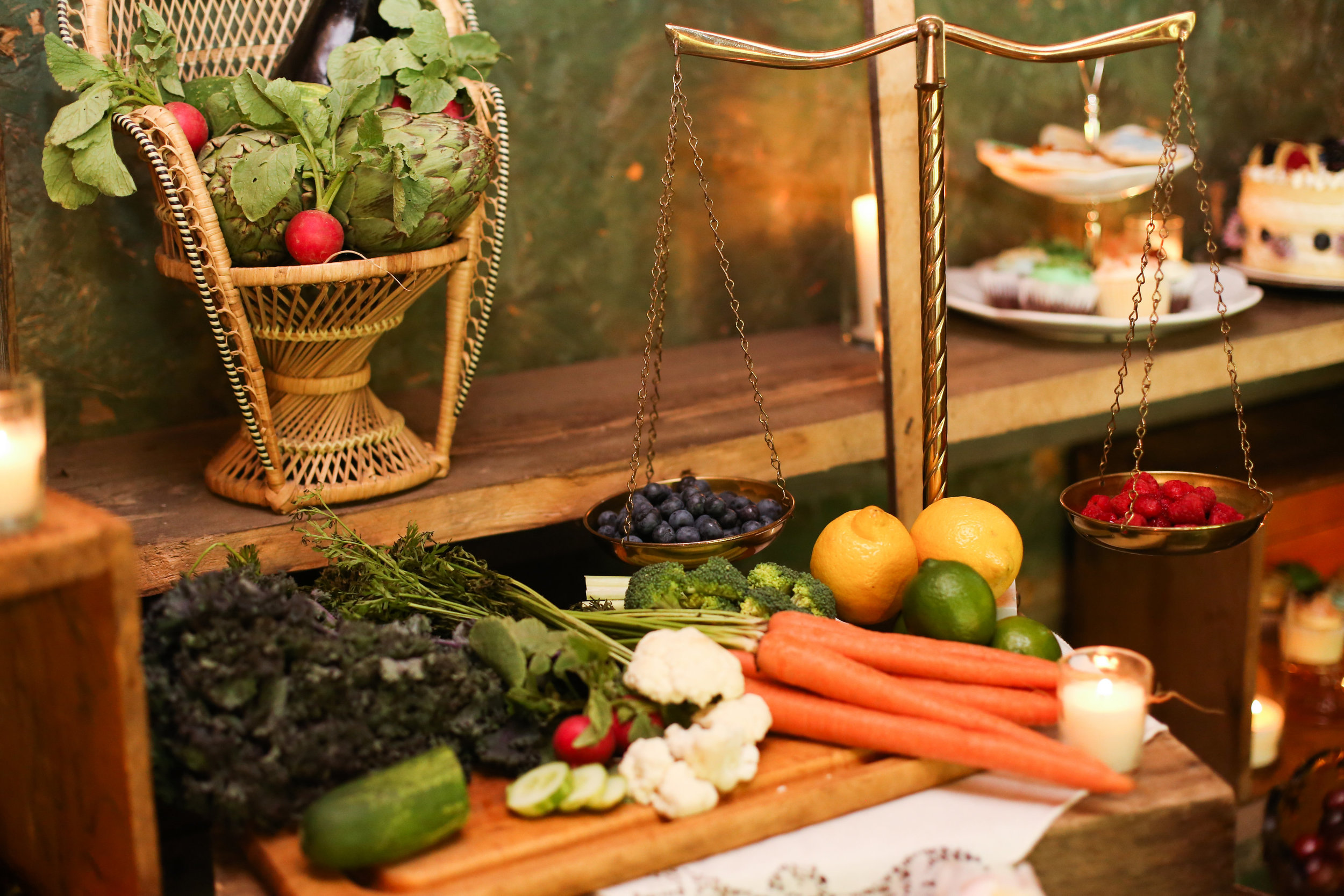 Food Spread styled by Forget Me Not Vintage Rentals, Photography by Seneca