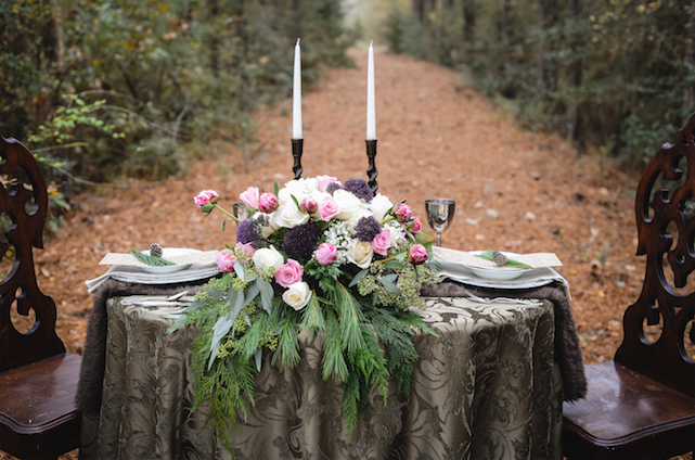 I loved the uniqueness of the fur table runner that Paige chose for the shoot! It really looked great.