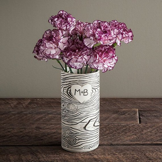 How cute is this  porcelain vase ?! Personalize it with your and your valentine's initials and it would be perfect!
