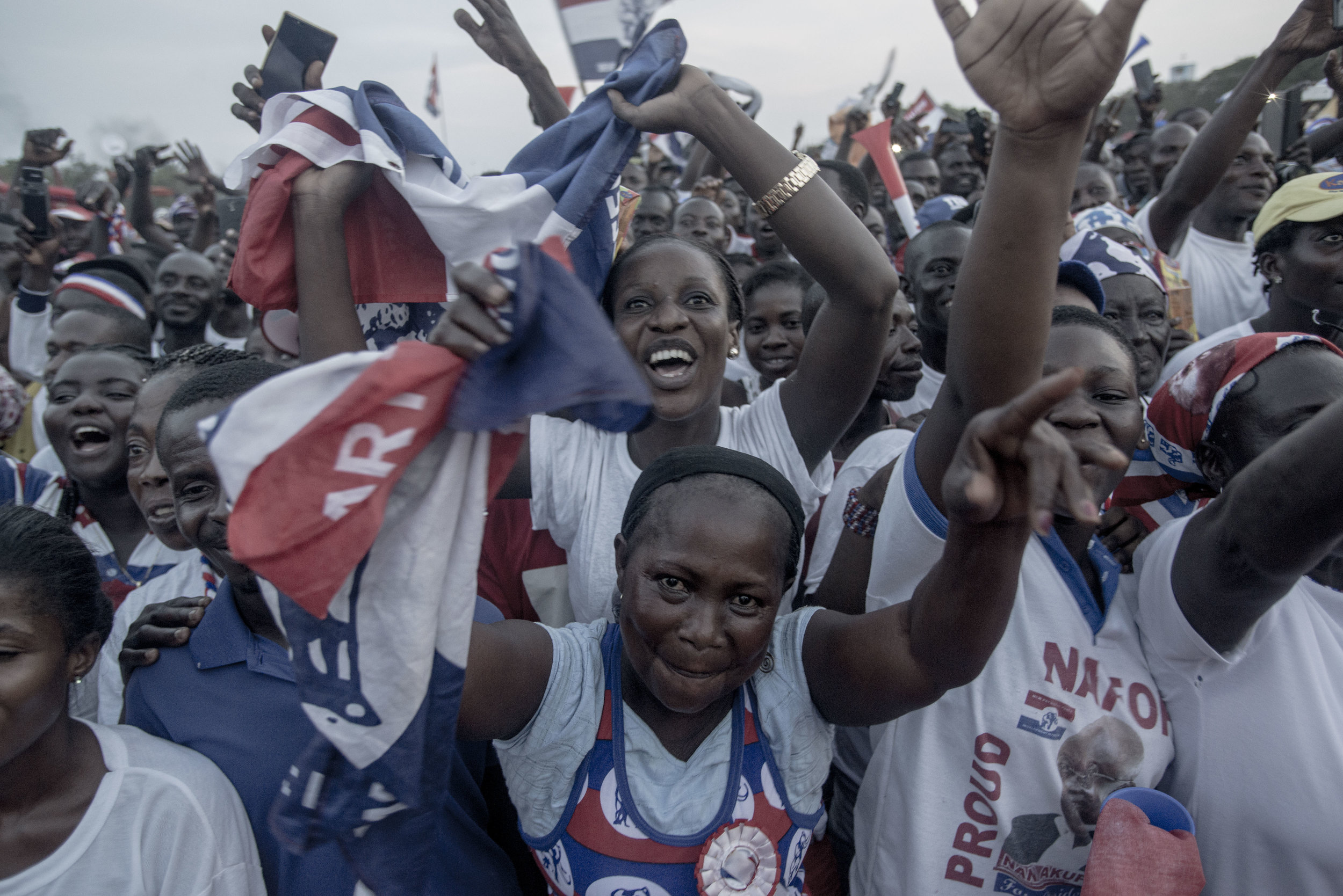 Nana Akufo Addo's NPP supporters during a rally in Tema town Accra