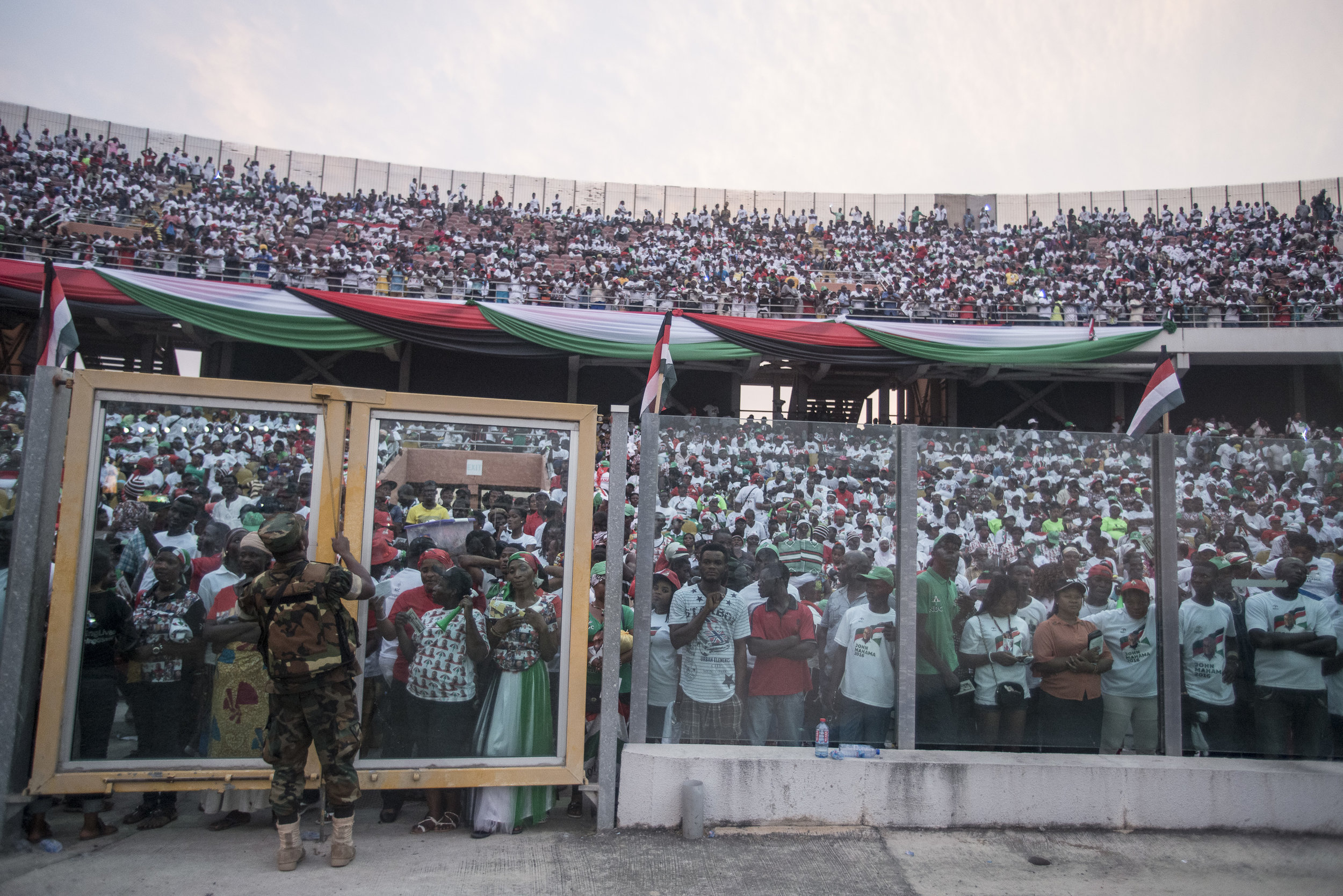 NDC (National Democratic Congress) last rally at Accra's Sports Stadium in Accra ahead of the December 7th General Election