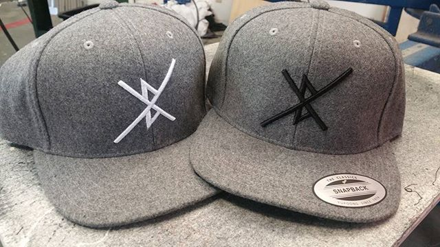 Some sweet hats we just finished for our friends at @bxfilms . Check them out they do some rad video production work, and they are cool people...ya can't lose! #bayarea #embroidery #hats #screenprinting #art #coollogo #threads