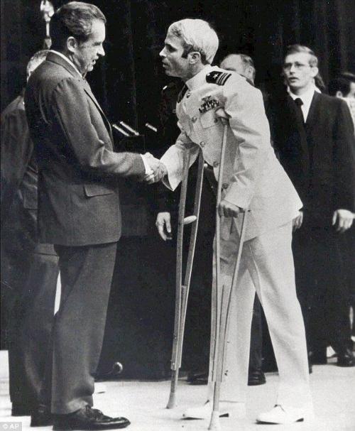 US President Nixon and John McCain