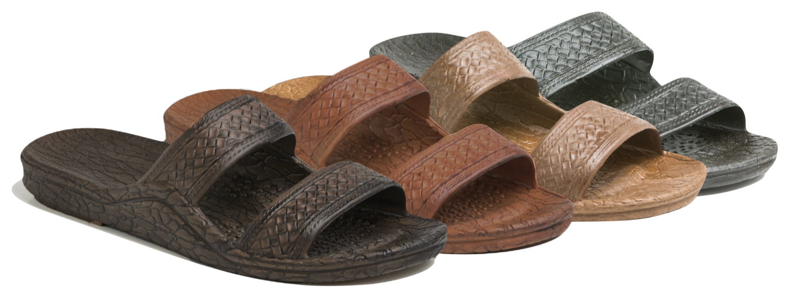 Left to Right : Dark Brown, Light Brown, Brown and Black.