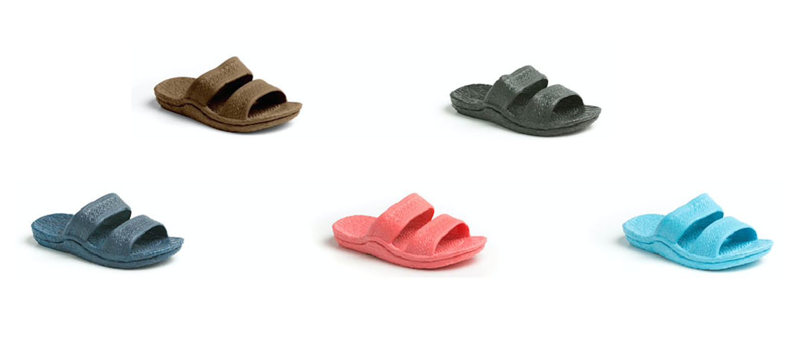 Kids Jandals® - Brown, Black, Navy, Pink and Aqua