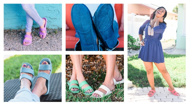 Color Jandals® - Navy, Pink, White, Lilac, Green and Aqua