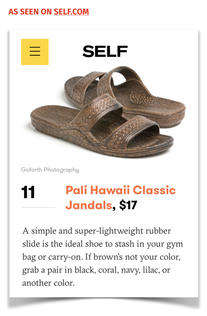 Self.com: 17 Shower Shoes You'll Actually Want To Wear Outside The Locker Room ( link )