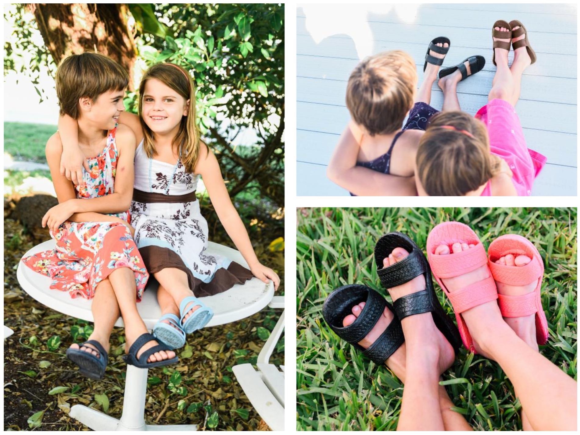 Kids Jandal - Brown, Black, Navy, Pink & Aqua