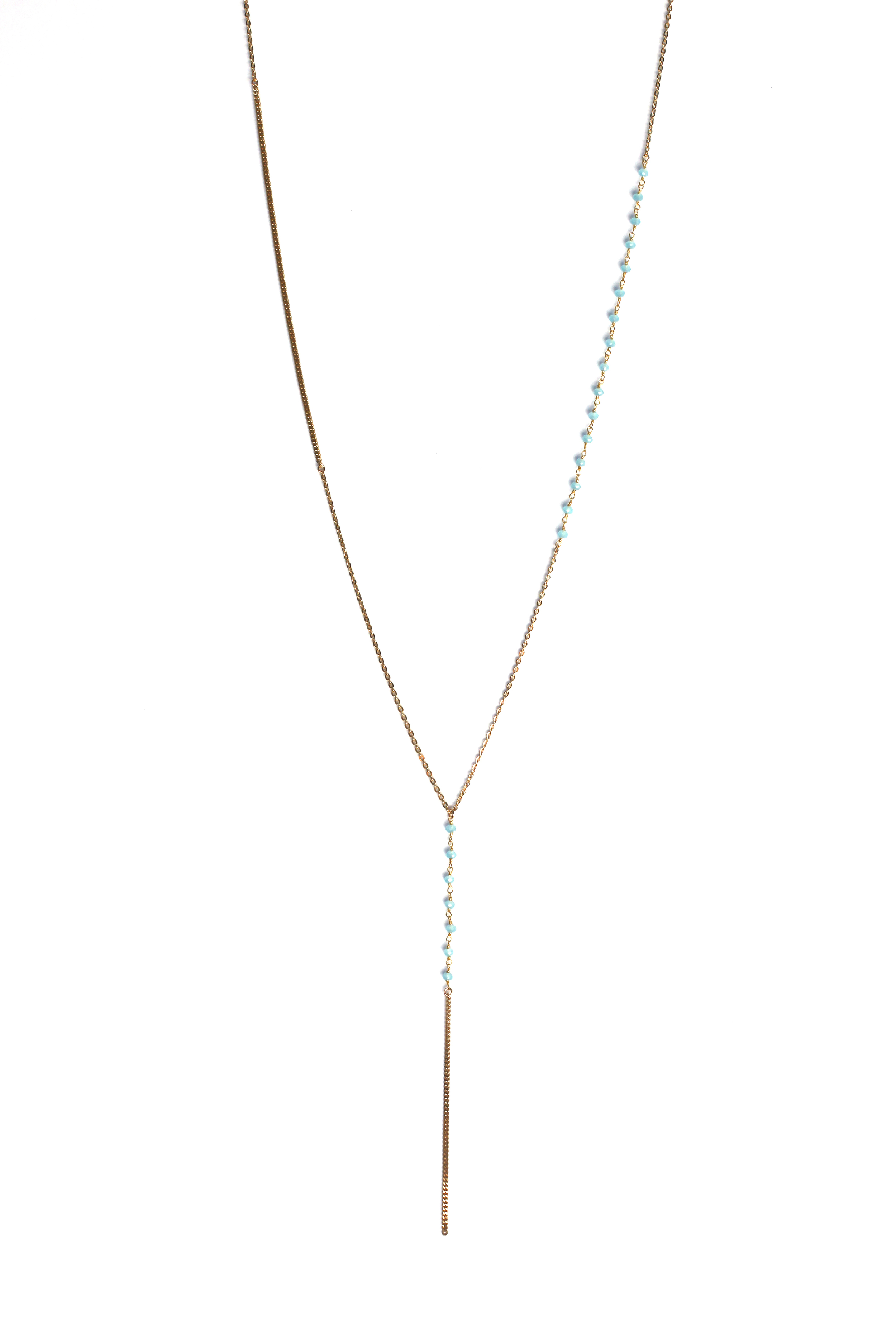 Sexy on the beach: The Y Necklace