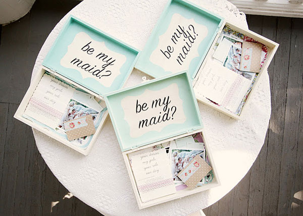 Be My Maid Boxes vis Wedding Chicks Blog