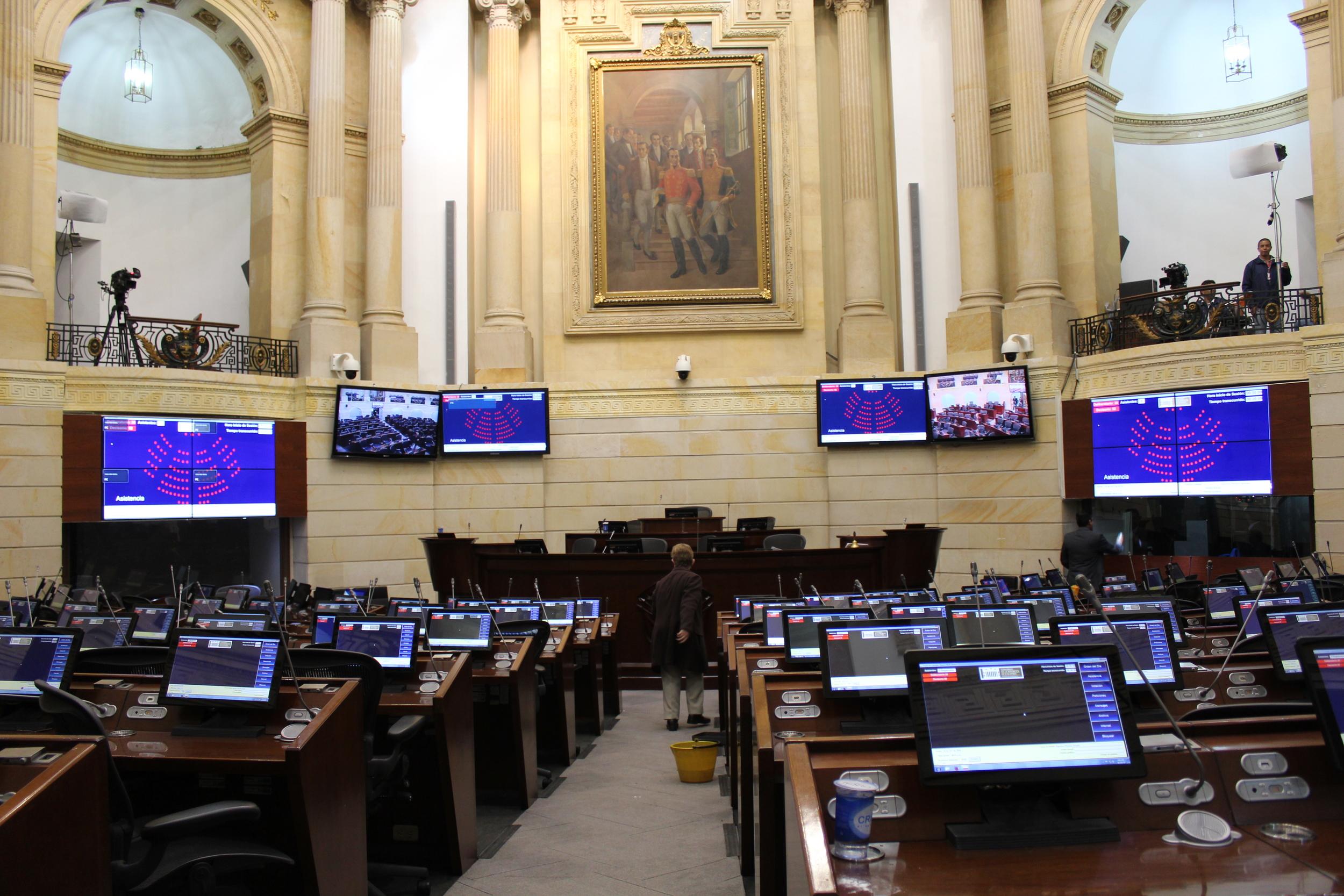 Colombia's Senate floor. Photo by  Shaun Randol