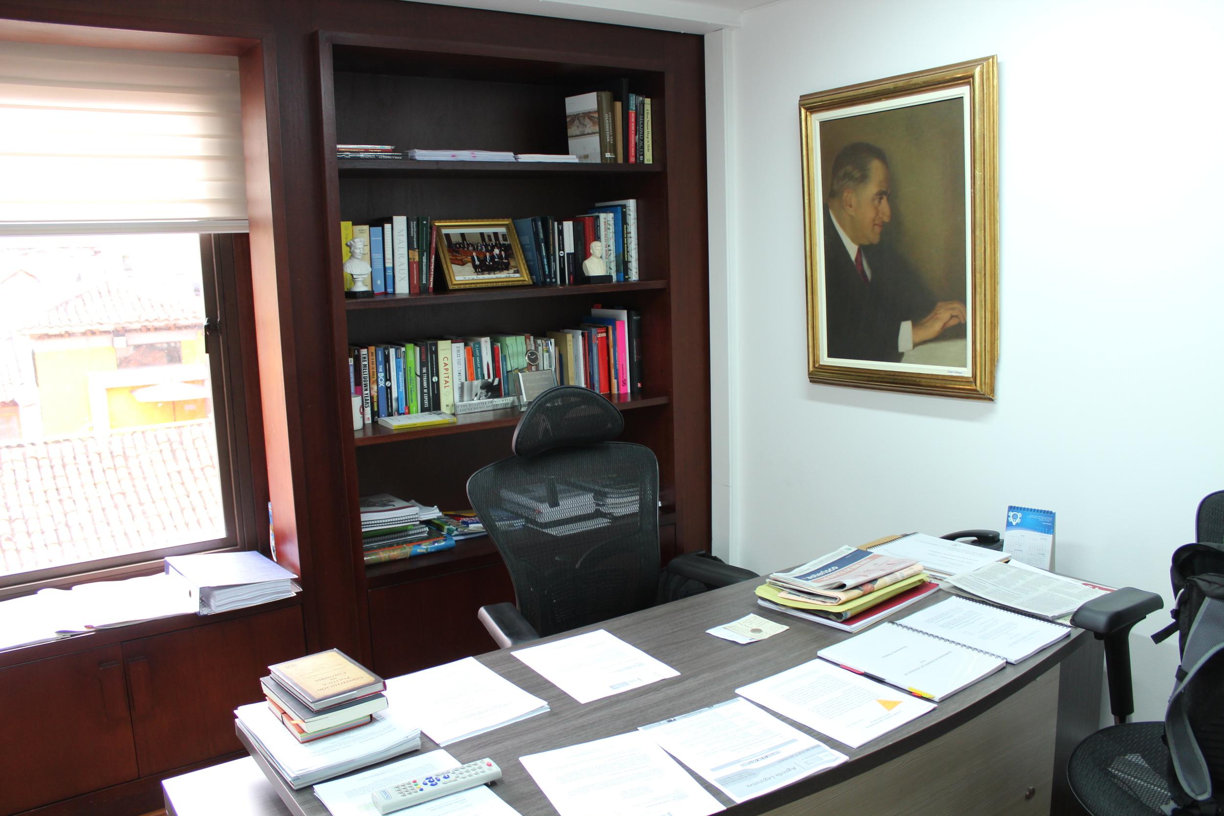 Duque's office. Photo by  Shaun Randol