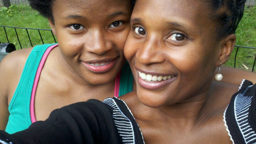 Siwe (left) and her mother (right); courtesy of the artist,Dionne Monsanto, and  The Siwe Project
