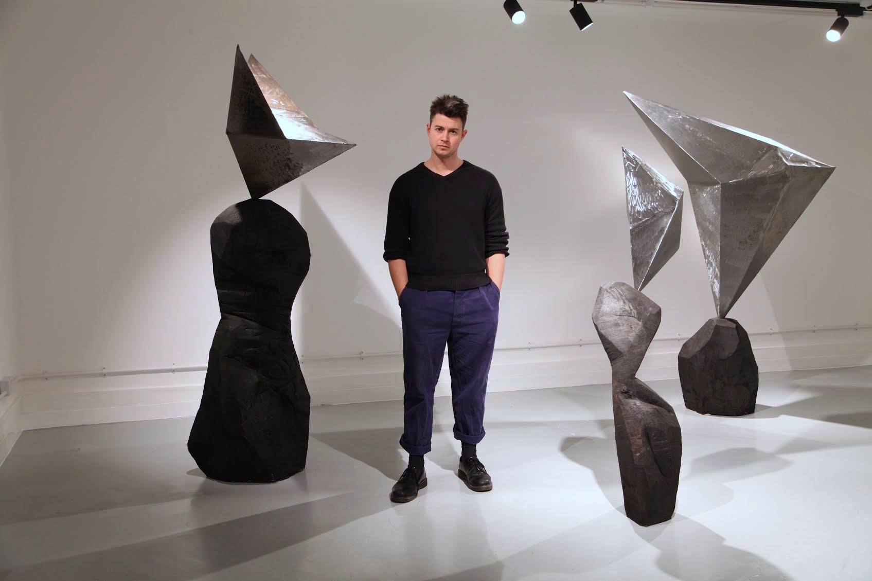 Sol Bailey Barker with his work