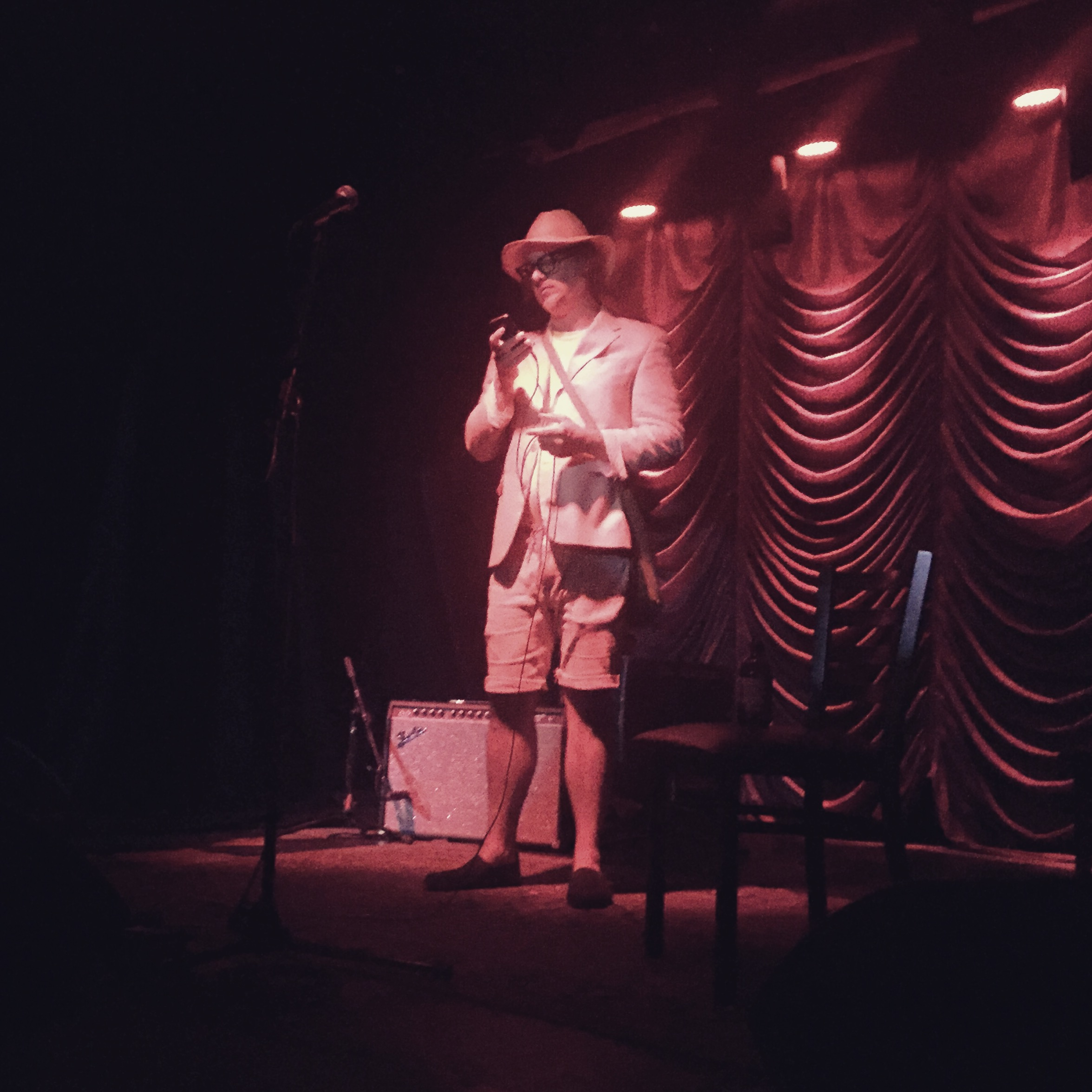 Ben Kronberg performing  Just Songs  at American Beauty Bar. Photograph by Christian Niedan
