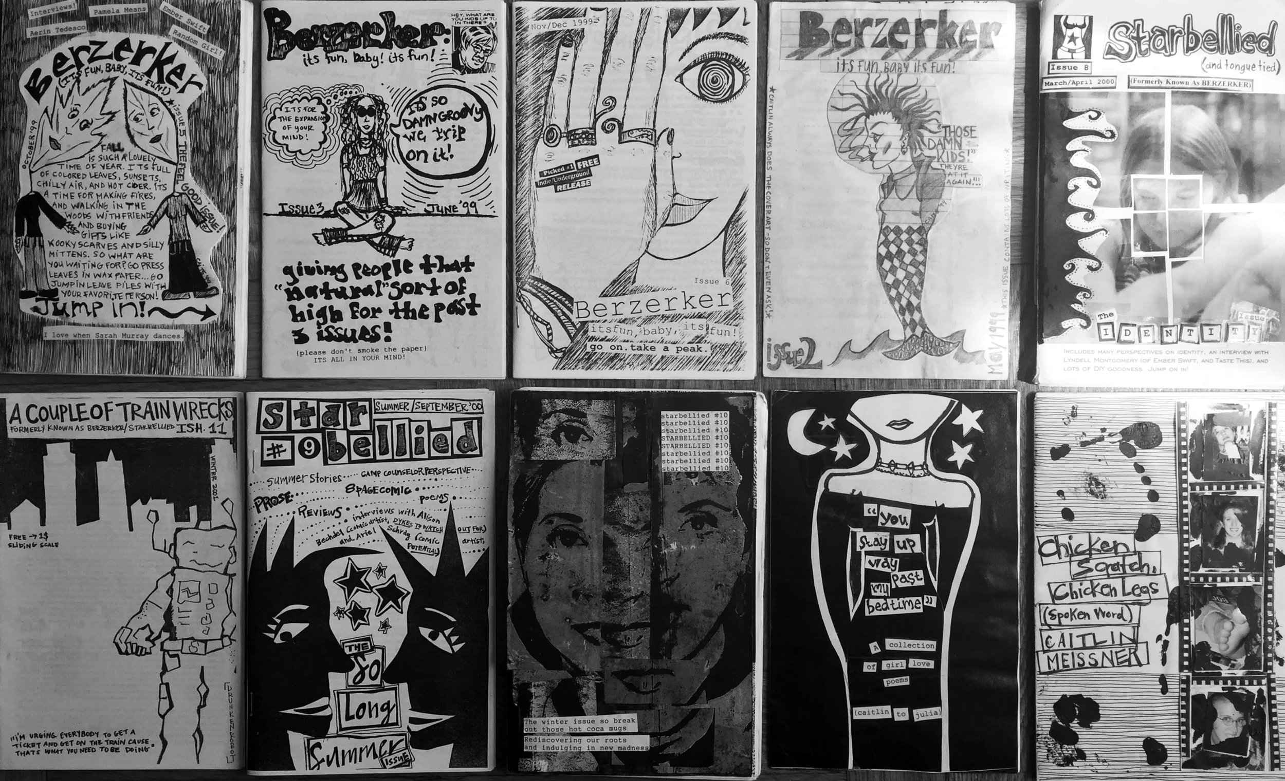 High school era zine covers; courtesy of the artist