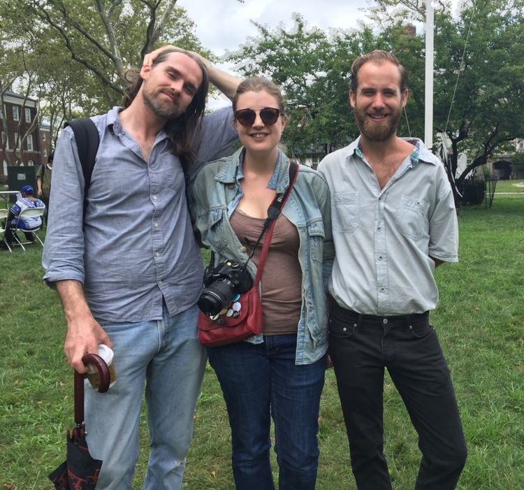 Sheffield, Durand-Gasselin, & Kite at the 2016 NYC Poetry Festival on Governor's Island
