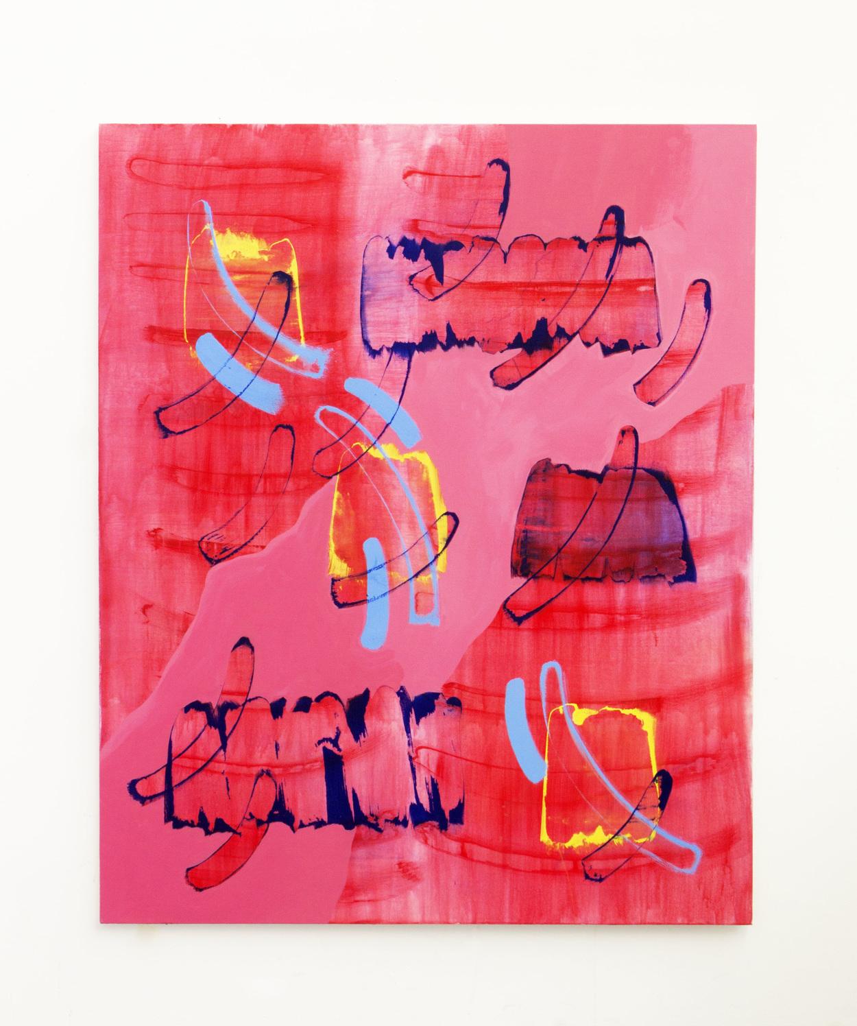 Goia Mujalli, Phonetics, Acrylic on Canvas, 2016