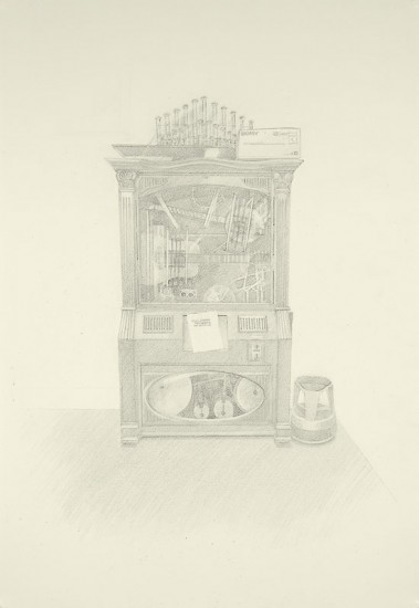 Josephine Taylor,  Ametron , 2018, Graphite on paper, 21 1/4 x 14 1/2 inches.  Image courtesy of Catharine Clark Gallery