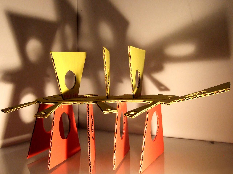 3-D cardboard sculpture