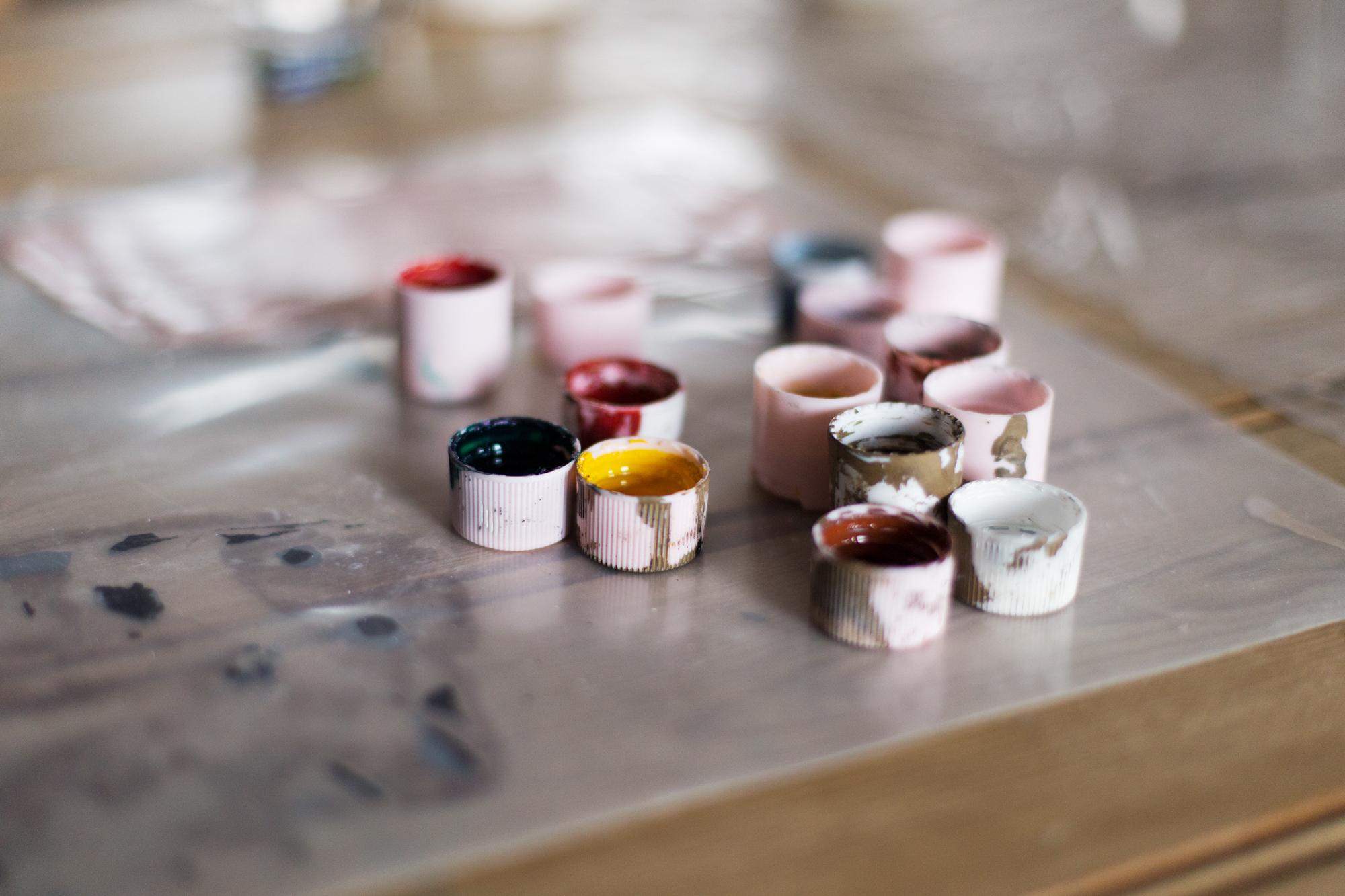 Jesmonite Terrazzo tile workshop with Katie Gilles, Modern art and craft classes in Bristol
