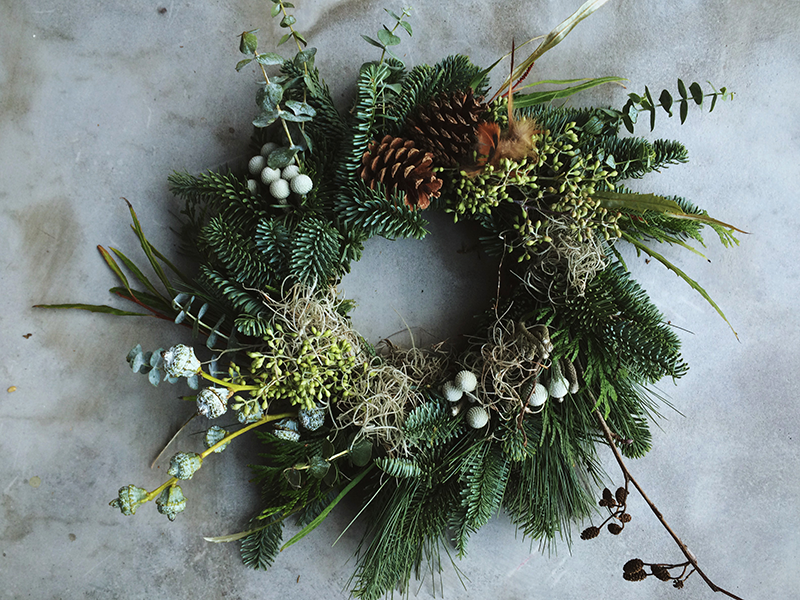 Ruby & the Wolf Christmas wreath workshop at the Forge, Bristol