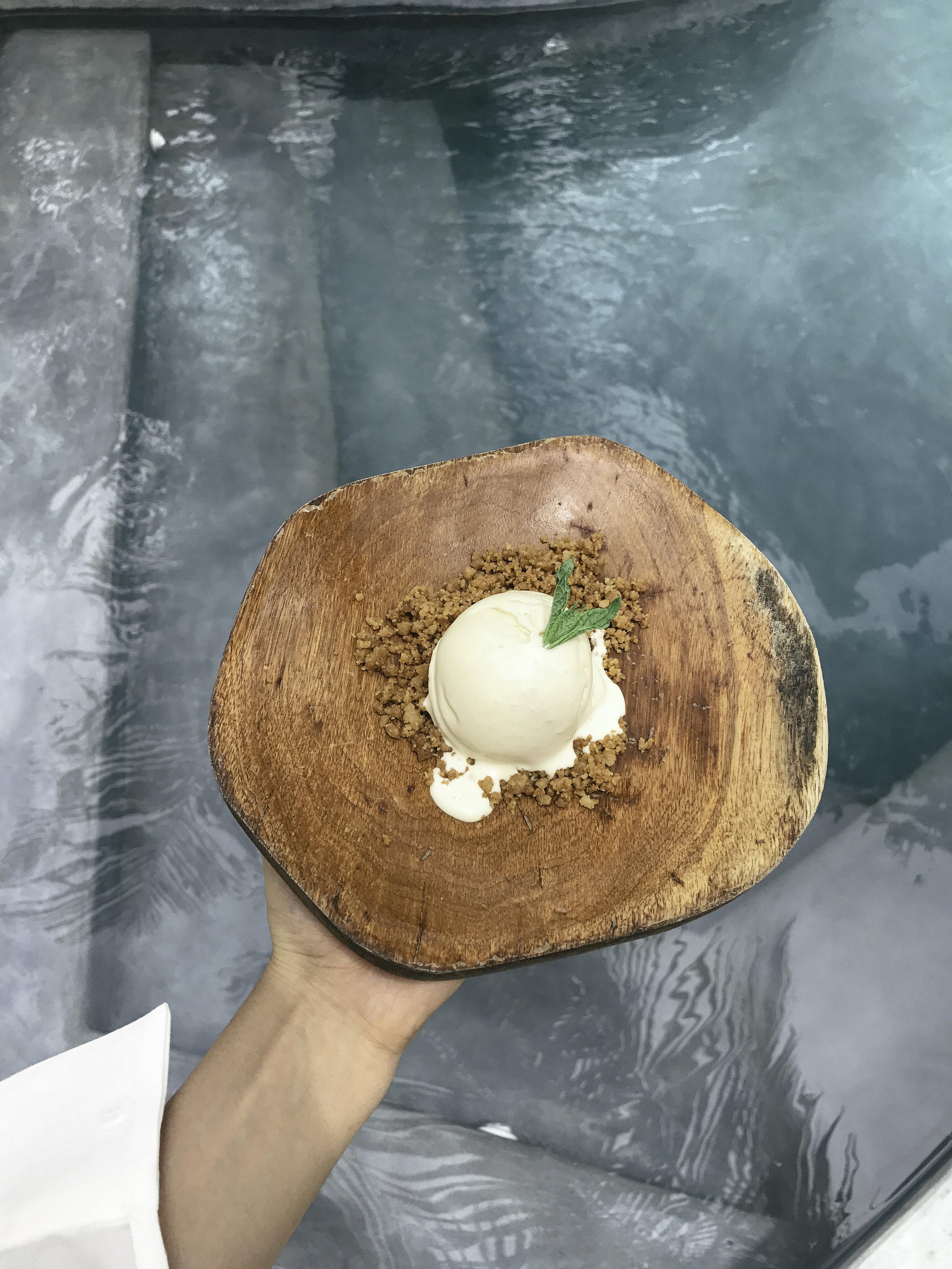 Spiced Dulce de leche ice cream